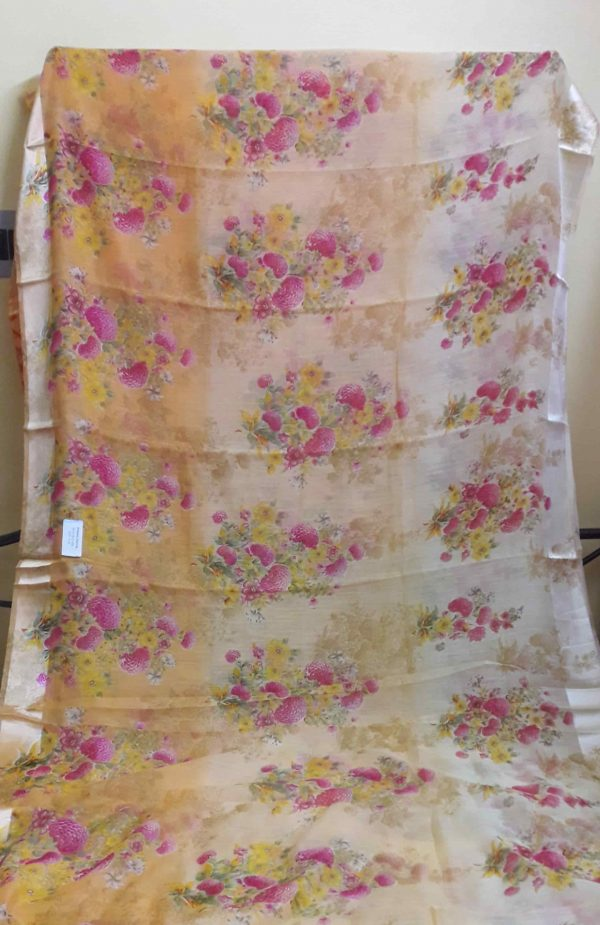 Digital-printed-linen-saree-patel-peach-floral1-min