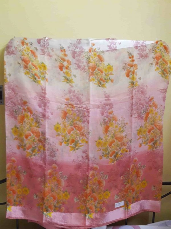 Digital-printed-linen-saree-peach-floral1-min