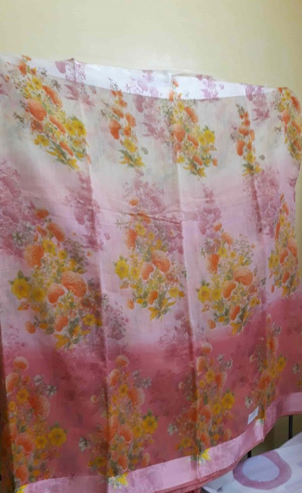 Digital-printed-linen-saree-peach-floral2-min