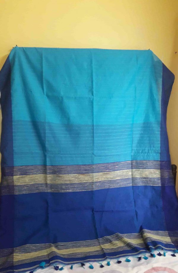 cotton-handloom-saree-blue