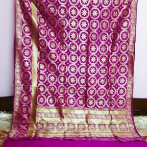 Dark pink opara silk saree