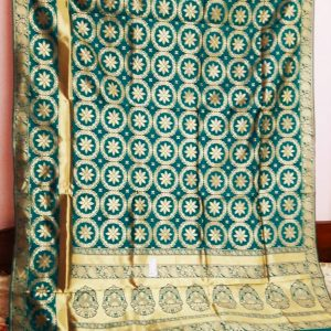 Sea Green opara silk sarees