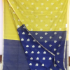 lime-yellow-blue-saree-3